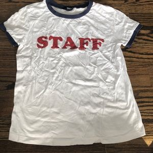 "Forever 21 ""staff"" T-shirt size m"